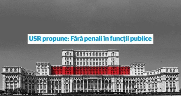 USR (Uniunea Salvați România) vrea modificarea Constitutiei: Fără penali în funcții publice.