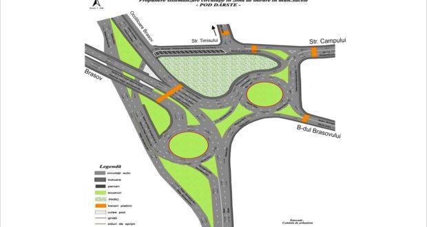 Mega-giraţie la podul Dârste. Cum arată o propunere de sistematizare acolo!