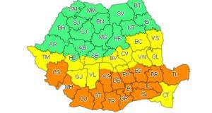 Atentionare METEO: Cod galben la Brasov! Ninsori însemnate cantitativ, intensificări ale vântului, vreme deosebit de rece