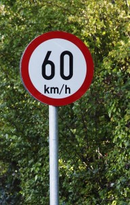 60km road sign