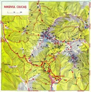 Harta Traseelor Montane In Masivul Ciucas www.montaniarzi.ro