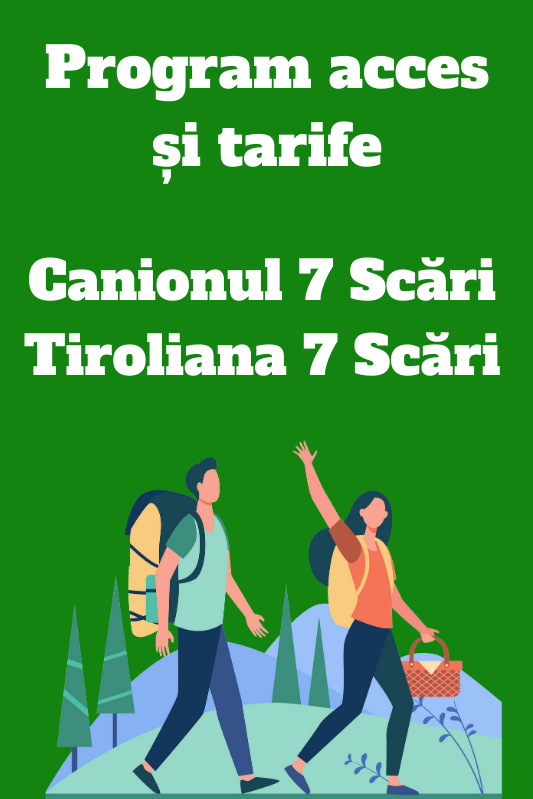 Program si tarife Canion 7 Scari Tiroliana 7 Scari